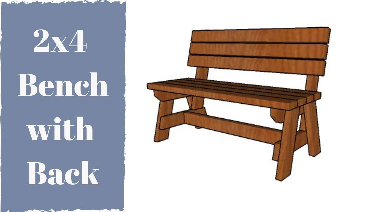 Wondrous 2X4 Bench With Back Plans Diy Plans Bench With Back 2X4 Ocoug Best Dining Table And Chair Ideas Images Ocougorg