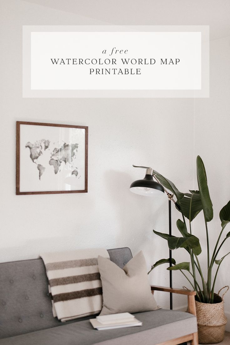 Download our FREE Watercolor World Map now! Because