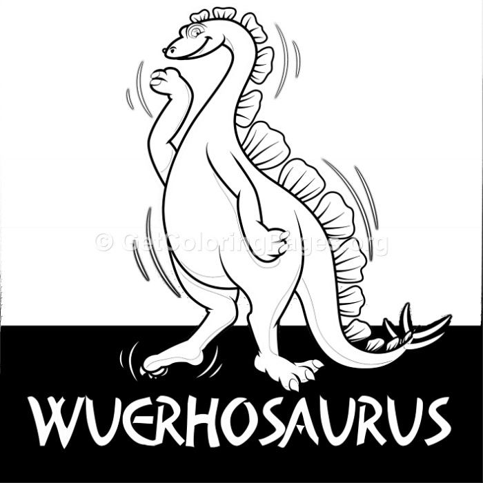 Free to download Wuerhosaurus Cute Dinosaurs Coloring ...
