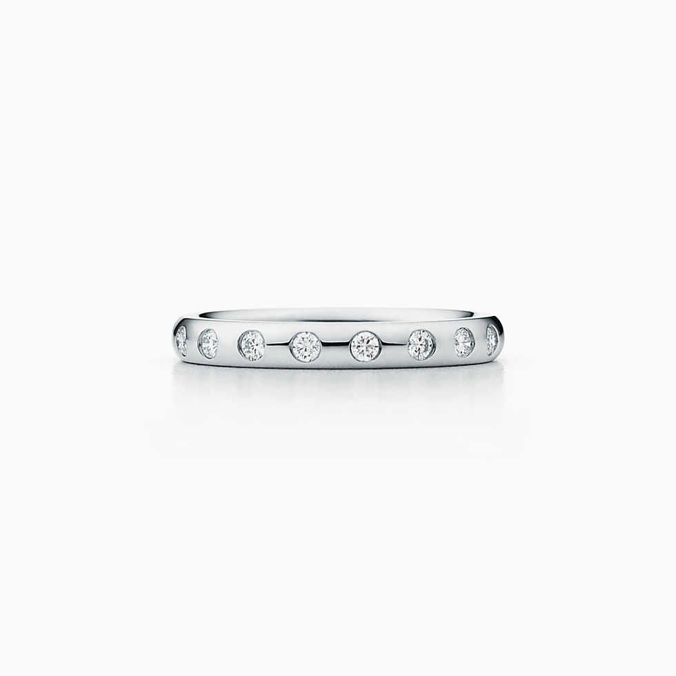 13e425473 Etoile band ring in platinum with diamonds, 3 mm wide. | Tiffany & Co.