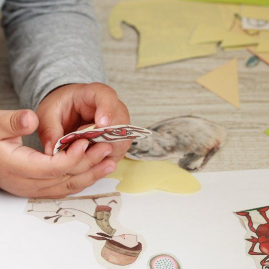 Use double sided sticky tape to make fun stickers for your little ones! (In Croatian)