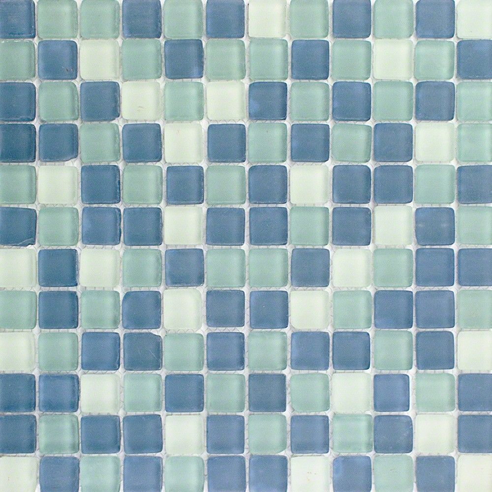 Coastal Seaside Squares Beached Frosted Glass | Kitchen | Pinterest ...