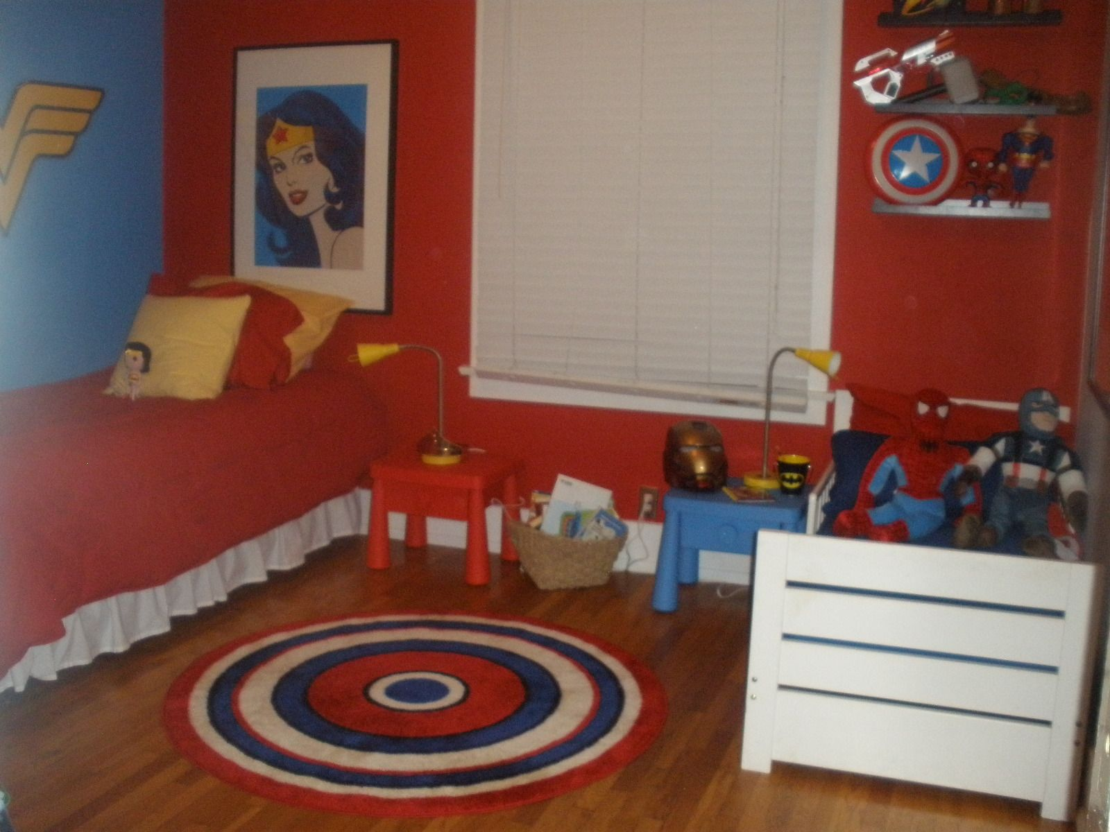 super hero shared room making it work for boy and girl finally a