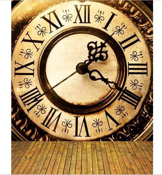 8x12ft Vintage Rome Dial Clock Wall Custom Photo Studio Background Backdrop Cameras Photo Lighting Studio B Clock Wallpaper Vintage Clock Antique Clock