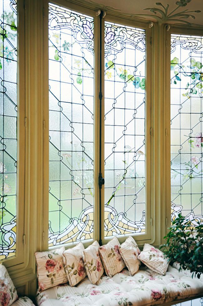 Stained glass windows in the family home of Louis Vuitton. pinned by ...