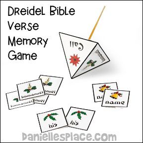 bible verse memory game for bible christmas lesson