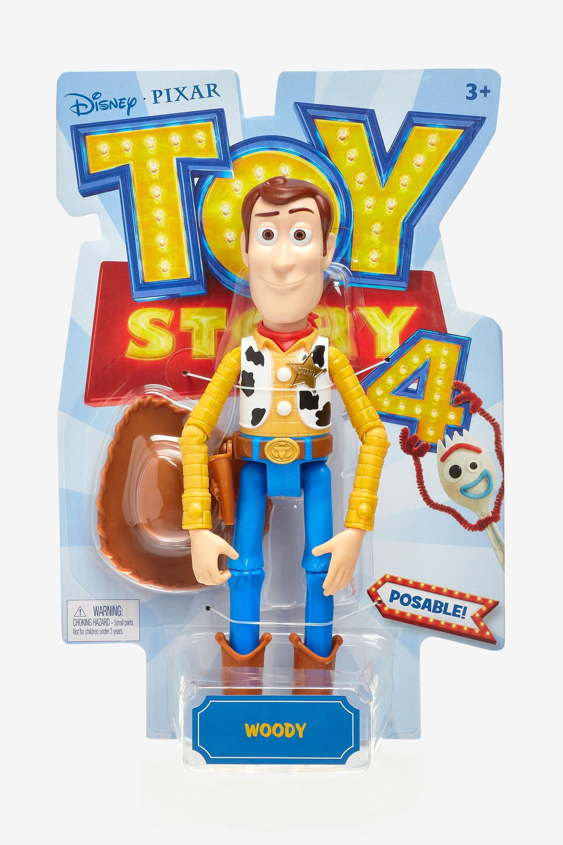 DISNEY PIXAR Toy Story 4 Posable Woody Figure Doll New in Original  Package