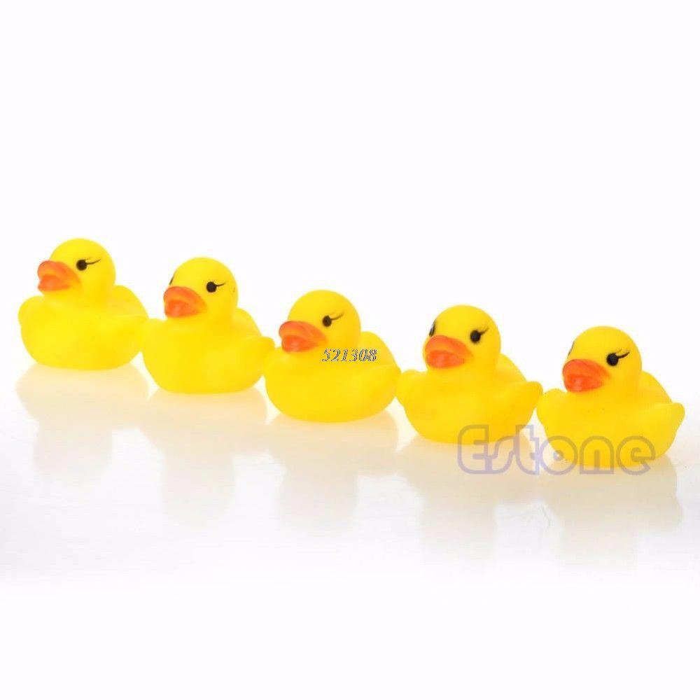 Lot 20pcs Yellow Baby Kids Children Bath Toy Cute Rubber Race ...