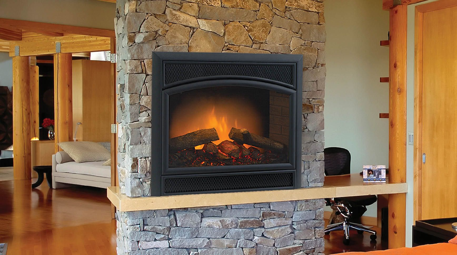 Monessen Allura Fire Electric Fireplace With Remote Control 36