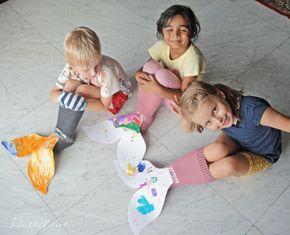 Meerjungfrau Spiele Flossen basteln #tortegeburtstag