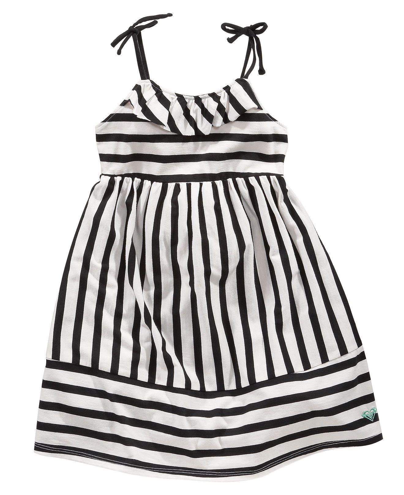 Roxy Kids Dress Little Girls Striped Dress with Itsy Bitsy Spider