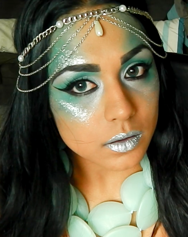 mermaid ideas for halloween, mermaid makeup | Creative eye makeup ...