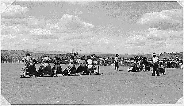 Tug of War between Apache and Navajo Women Date: 1939