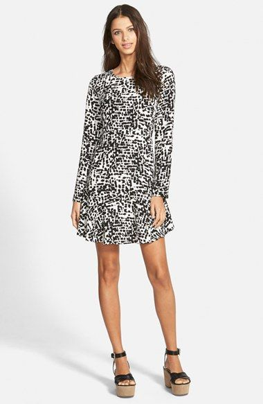 Free shipping and returns on Leith Spotty Long Sleeve Dress at  Nordstrom.com. One hundred and one (or more) abstract spots dapple a  long-sleeve dress with ... fafb25d68251