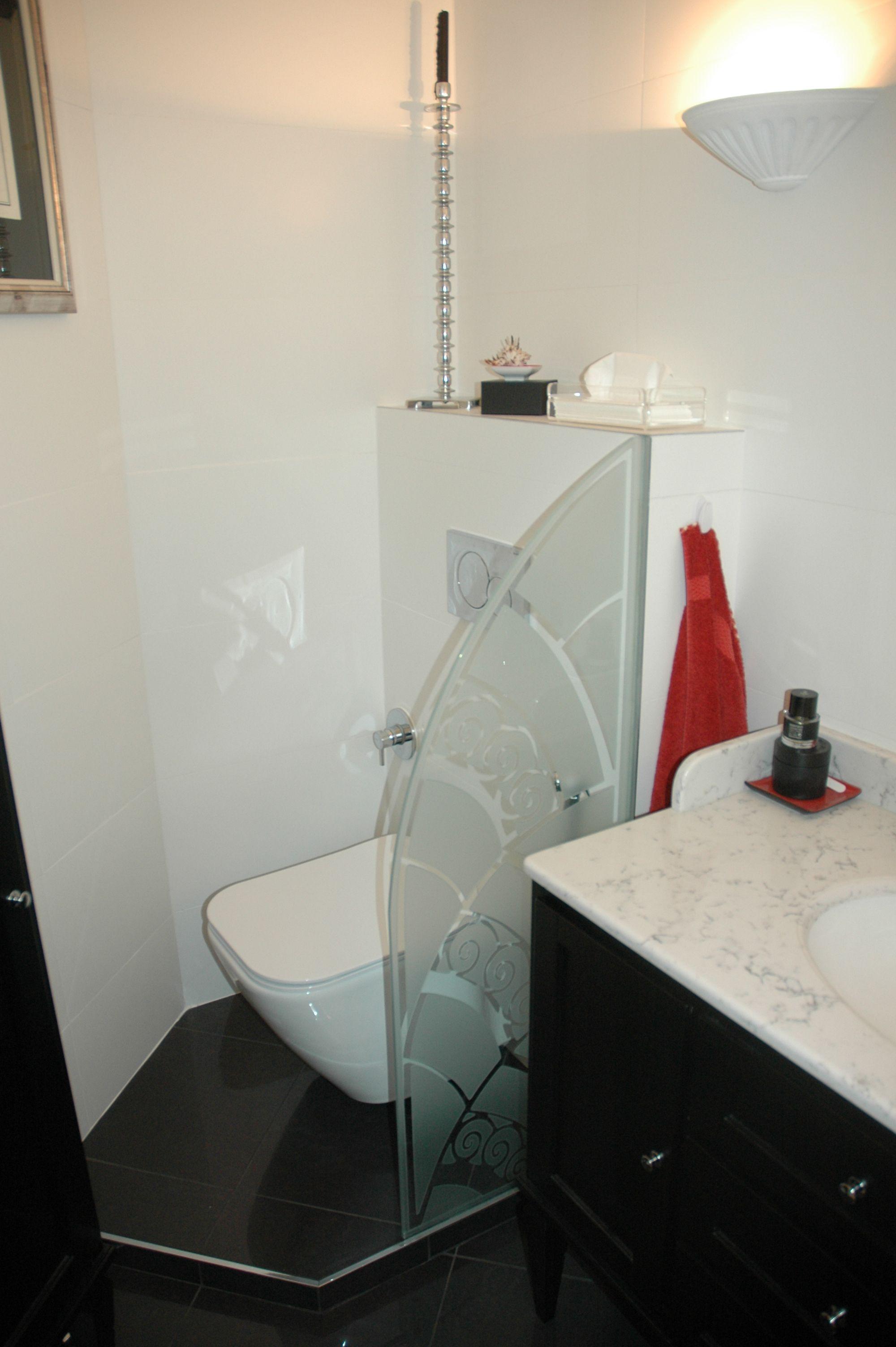 réalisation d'un paravent en verre sablé avec motif traditionnel ... - Paravent Pour Salle De Bain