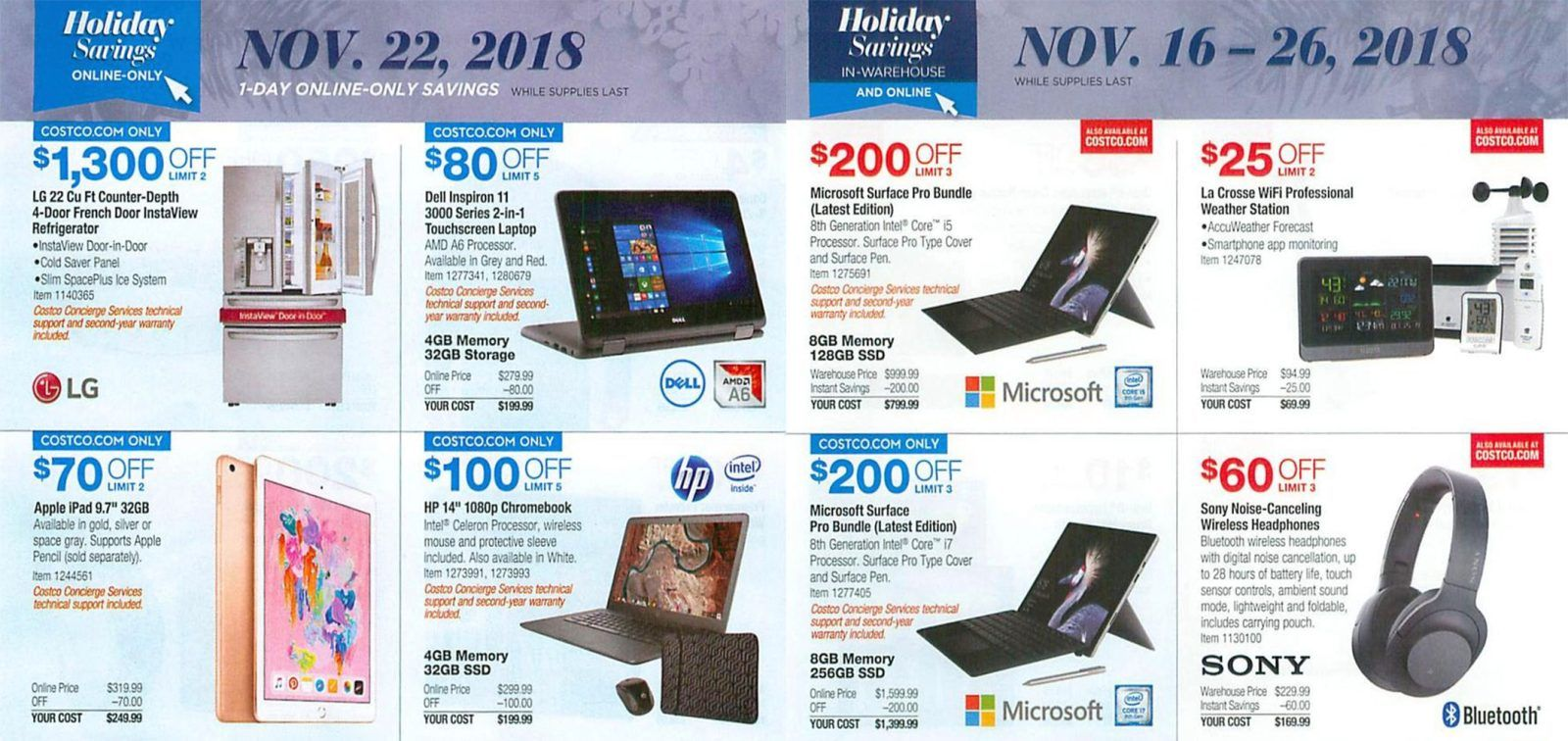 Costco Black Friday 2018 Ad Scan, Deals and Offers - Best Black ...