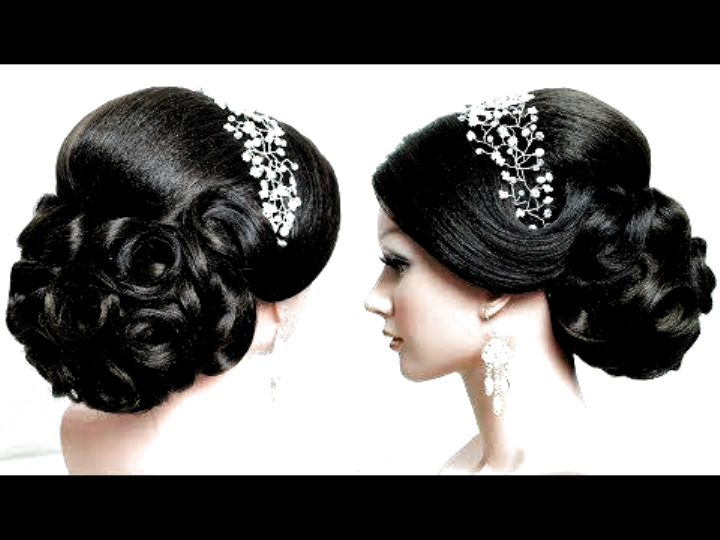 Indian Bridal Hairstyle Tutorial Wedding Updo For Long Hair Perfect Bun Youtube Hairstyles For Indian Wedding In 2020 Indian Wedding Hairstyles Indian Bridal Hairstyles Bridal Hair Updo