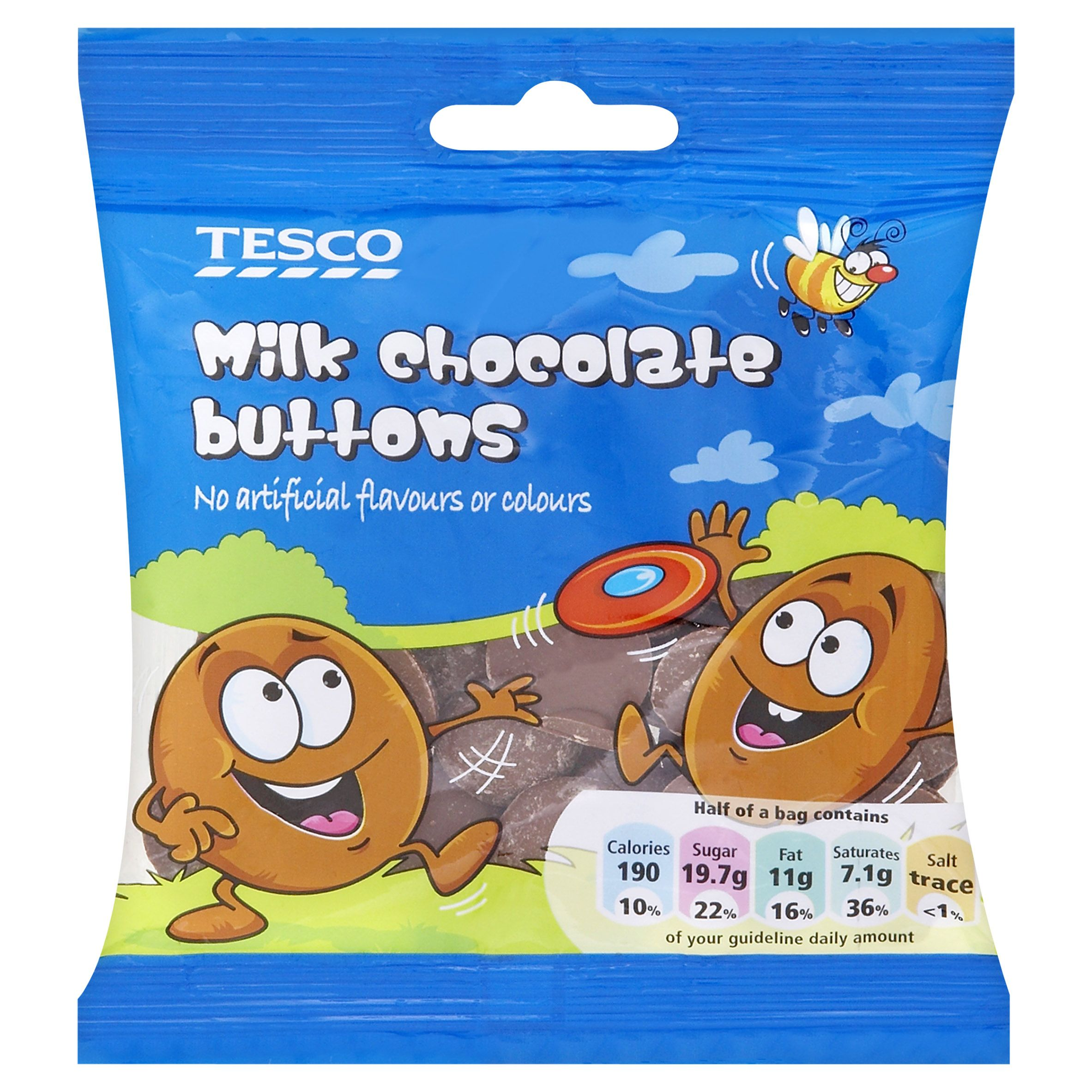 Tesco Milk Chocolate Buttons No Artificial Flavours Or Colours