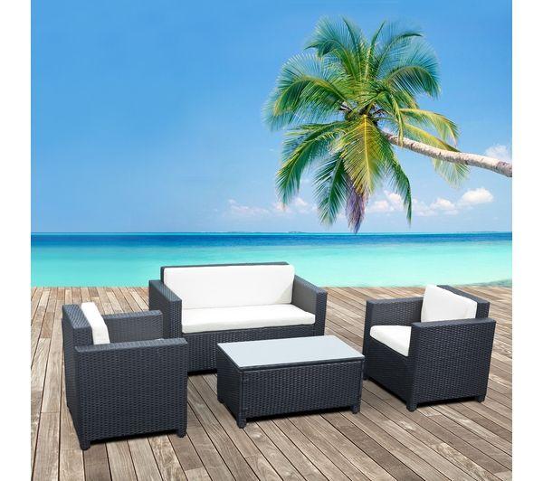 alice s garden salon de jardin en resine tressee 4 places. Black Bedroom Furniture Sets. Home Design Ideas