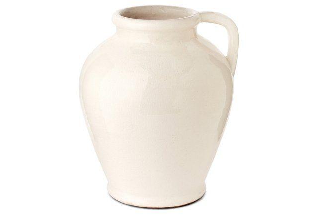 Pitcher Vase White Pottery Pinterest Pottery