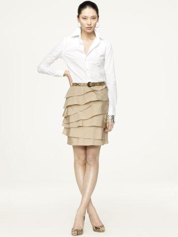 "Ralph Lauren ""Black Label"" Nadira Silkk-Cotton Skirt"