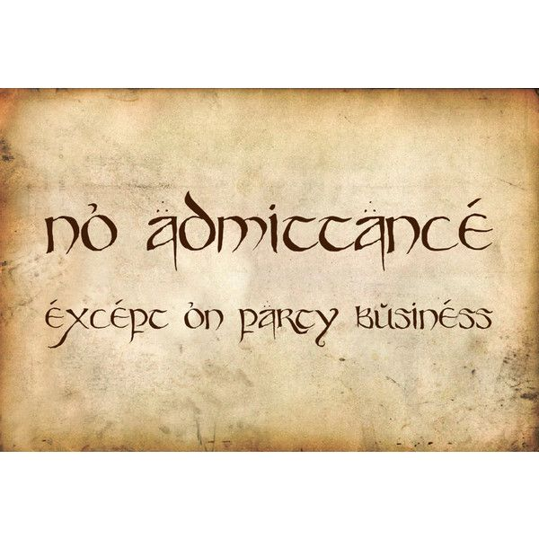 No Admittance Except On Party Business Sign (£12) Liked On