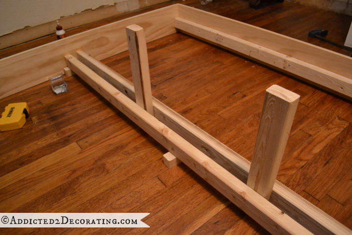 DIY Stained Wood Raised Platform Bed Frame Part 1 (With