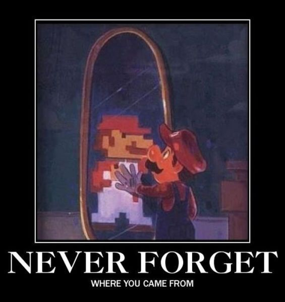 Mario has become only a memory of what he was.