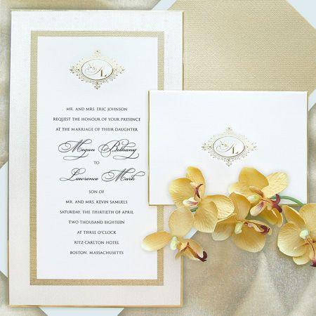 Formal Monogram Wedding Invitation By C Est Papier Available