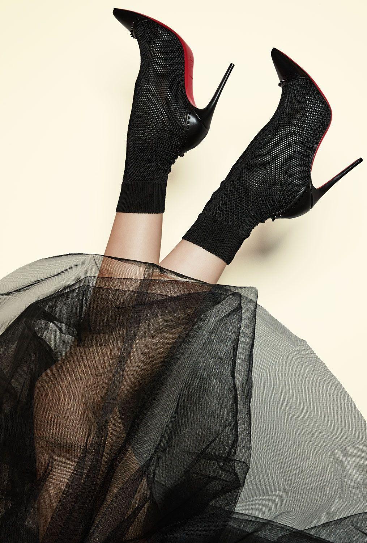 92932a919a34 Christian Louboutin  Dovi Dova  100 studded leather-trimmed stretch-knit  sock boots