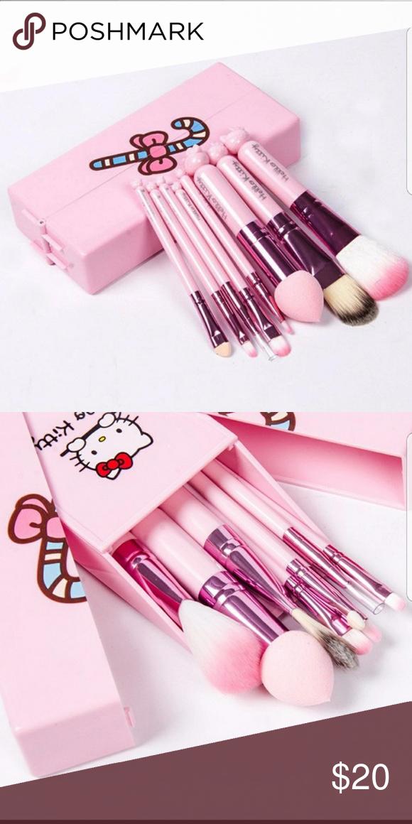 6545d62e0 SALE LAST ONE   Hello Kitty Brushes Hello Kitty make up brush set ...