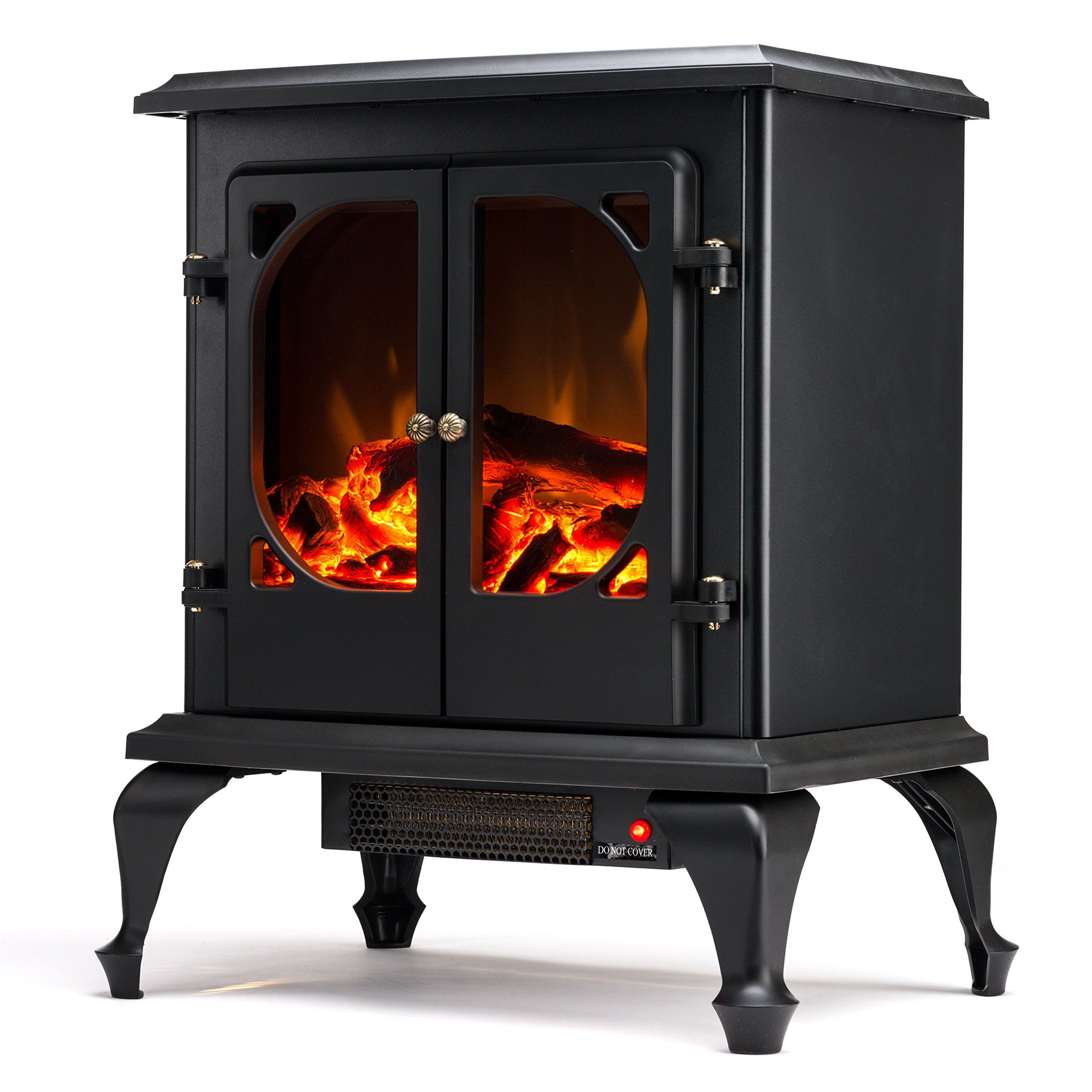 fireplace standing stove realistic electric logs vintage pin amazon portable fire black free and com with hamilton