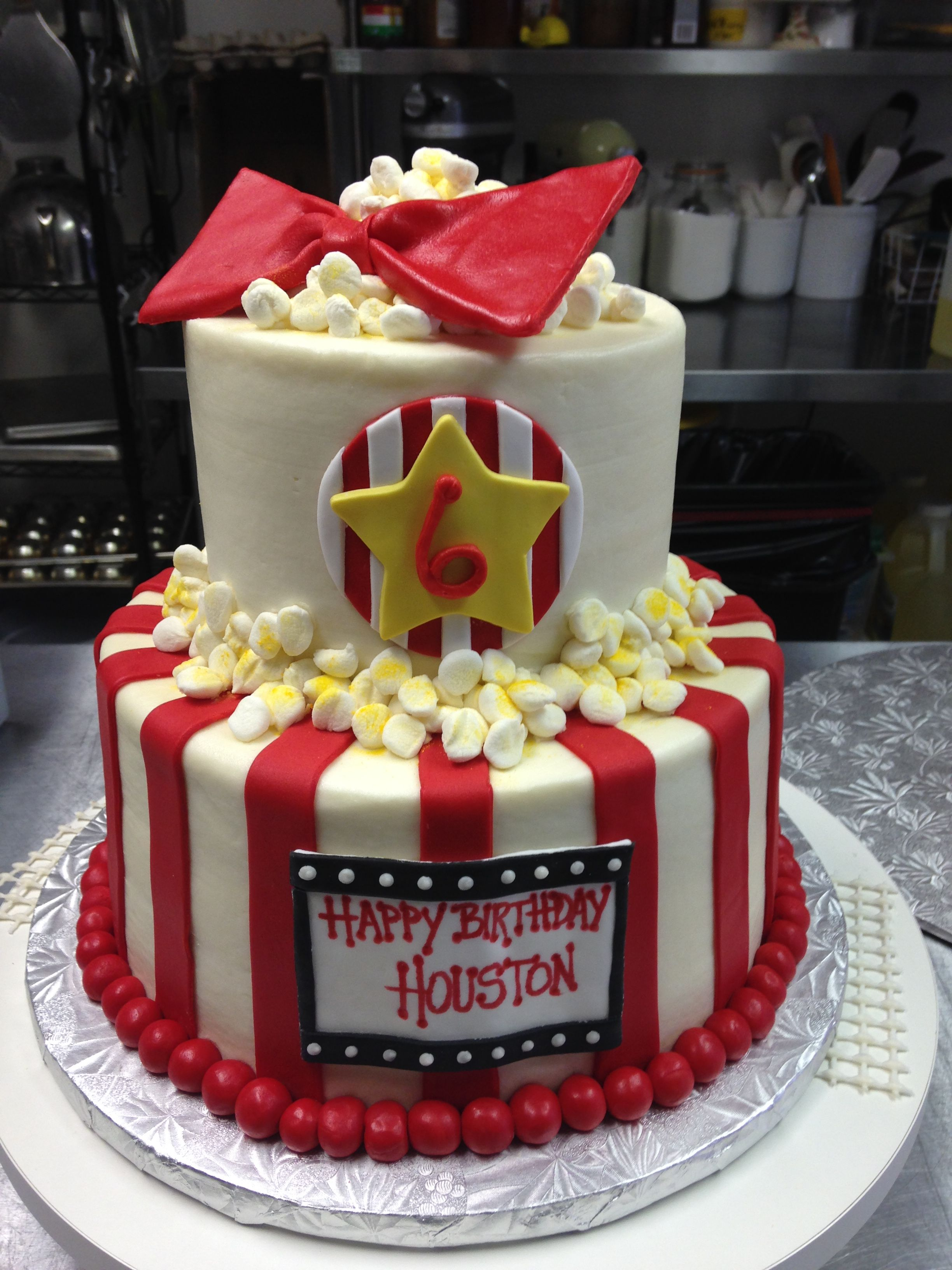 Movie theater themed birthday cake Made with both butter cream