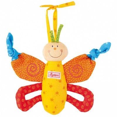 Voici le hochet papillon coloré par Sigikid ! Il est idéal pour divertir bébé !