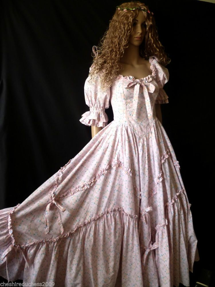 vintage laura ashley neo victorian princess floral summer ballgown dress 6 8 en 2018 u. Black Bedroom Furniture Sets. Home Design Ideas