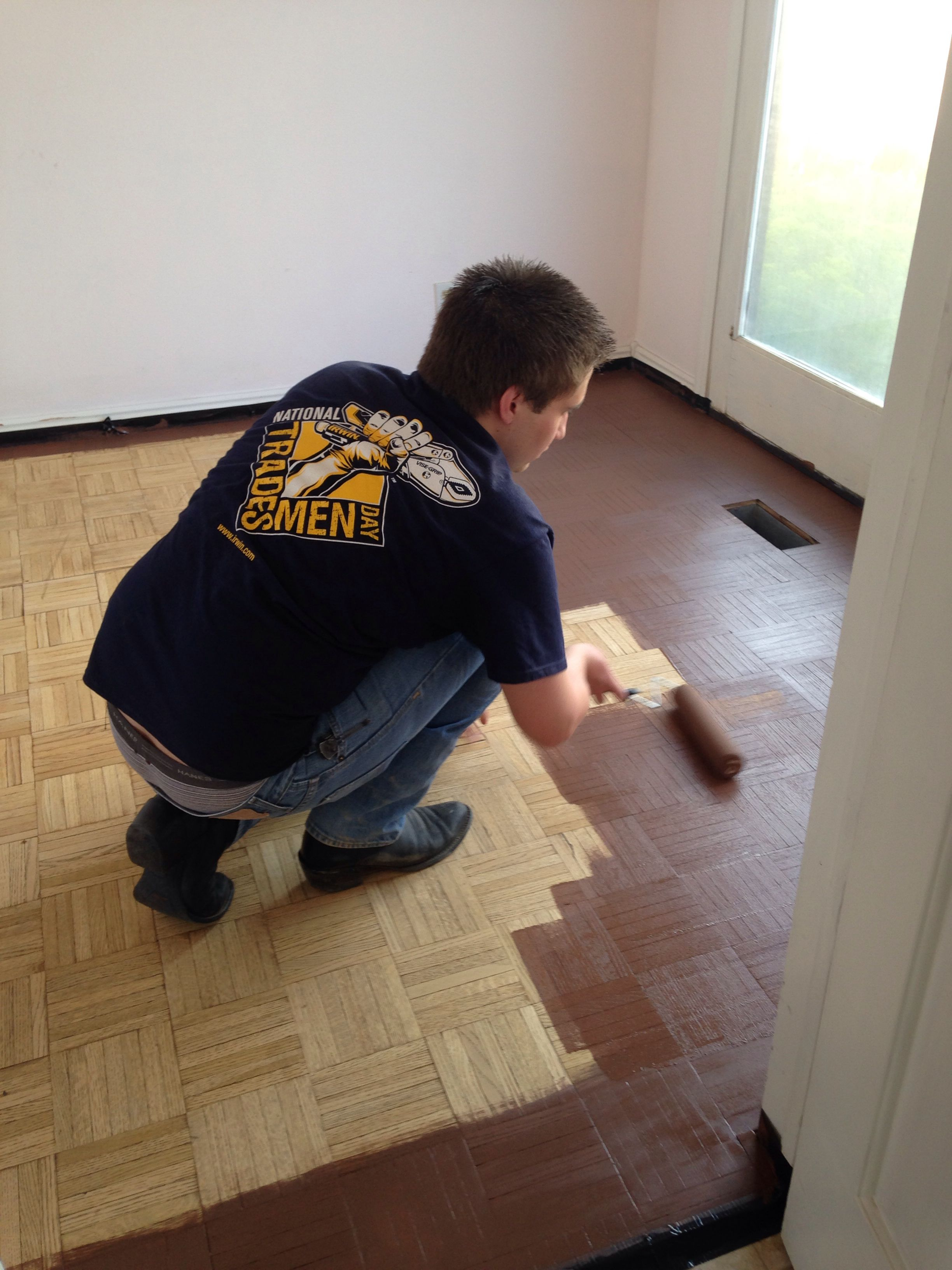 Parkay Floor Remodeling On A Budget Buy Stain From