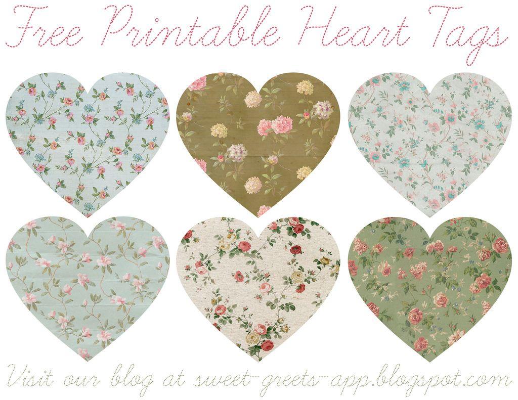 Free Printable Heart Tags | Flickr - Photo Sharing!
