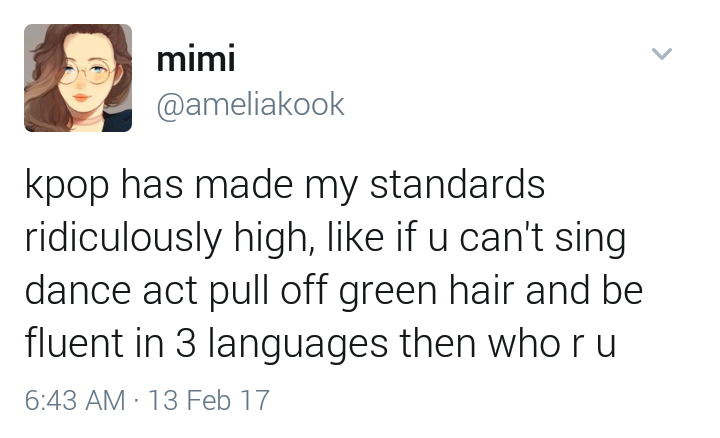 The Standards For Idols Have Become Higher Too Funny Kpop Memes Kpop Funny Kpop Memes
