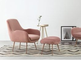 Oud Roze Fauteuil : Moby fauteuil oudroze fluweel mark kim s interior in