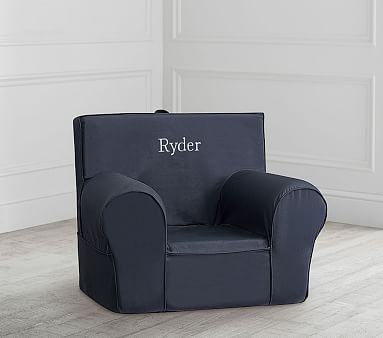 Dark Blue Twill Anywhere Chair 174 Slipcover Only Swing