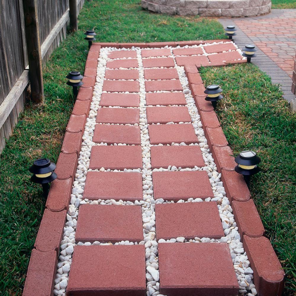 river red square concrete step stone