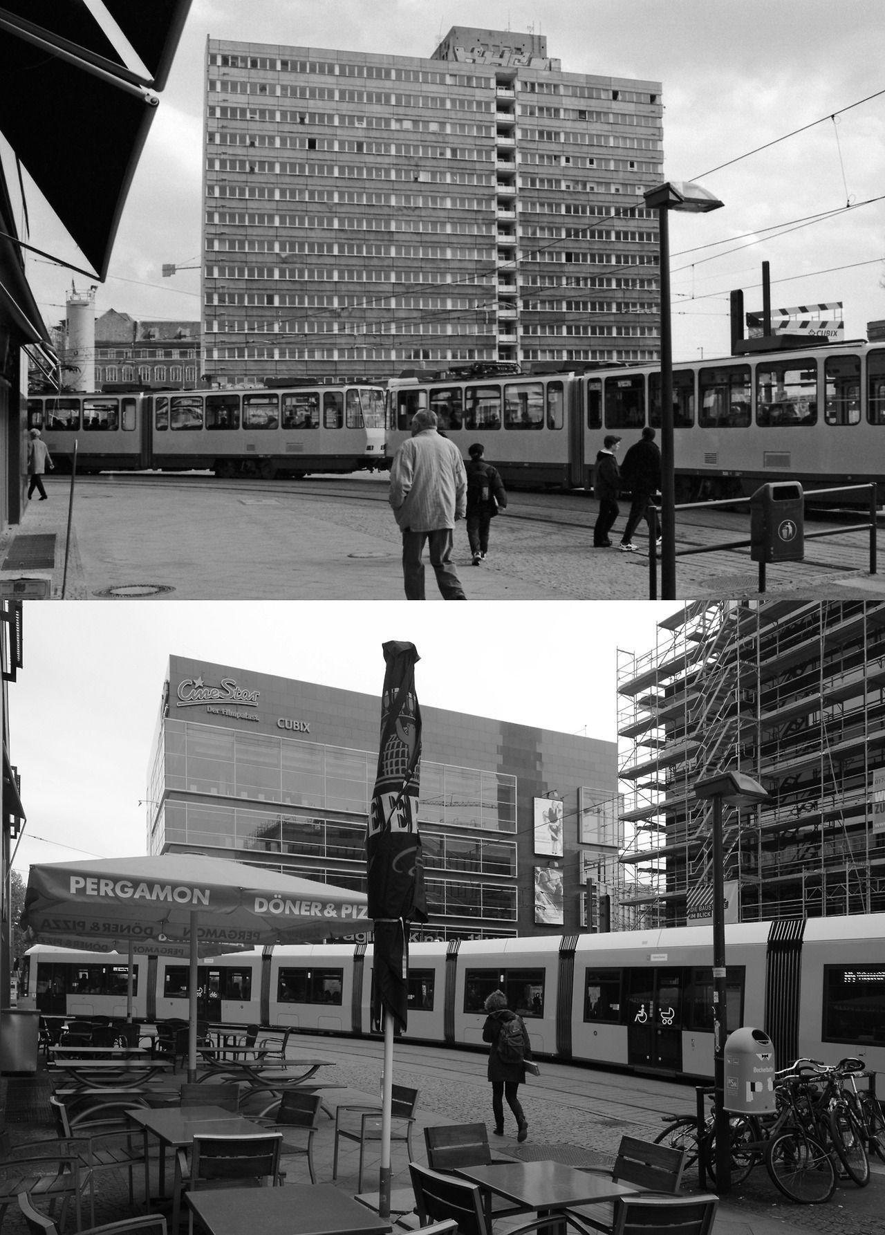 Berlin in den 90ern Gontardstraße in Mitte, 2000 und 2014