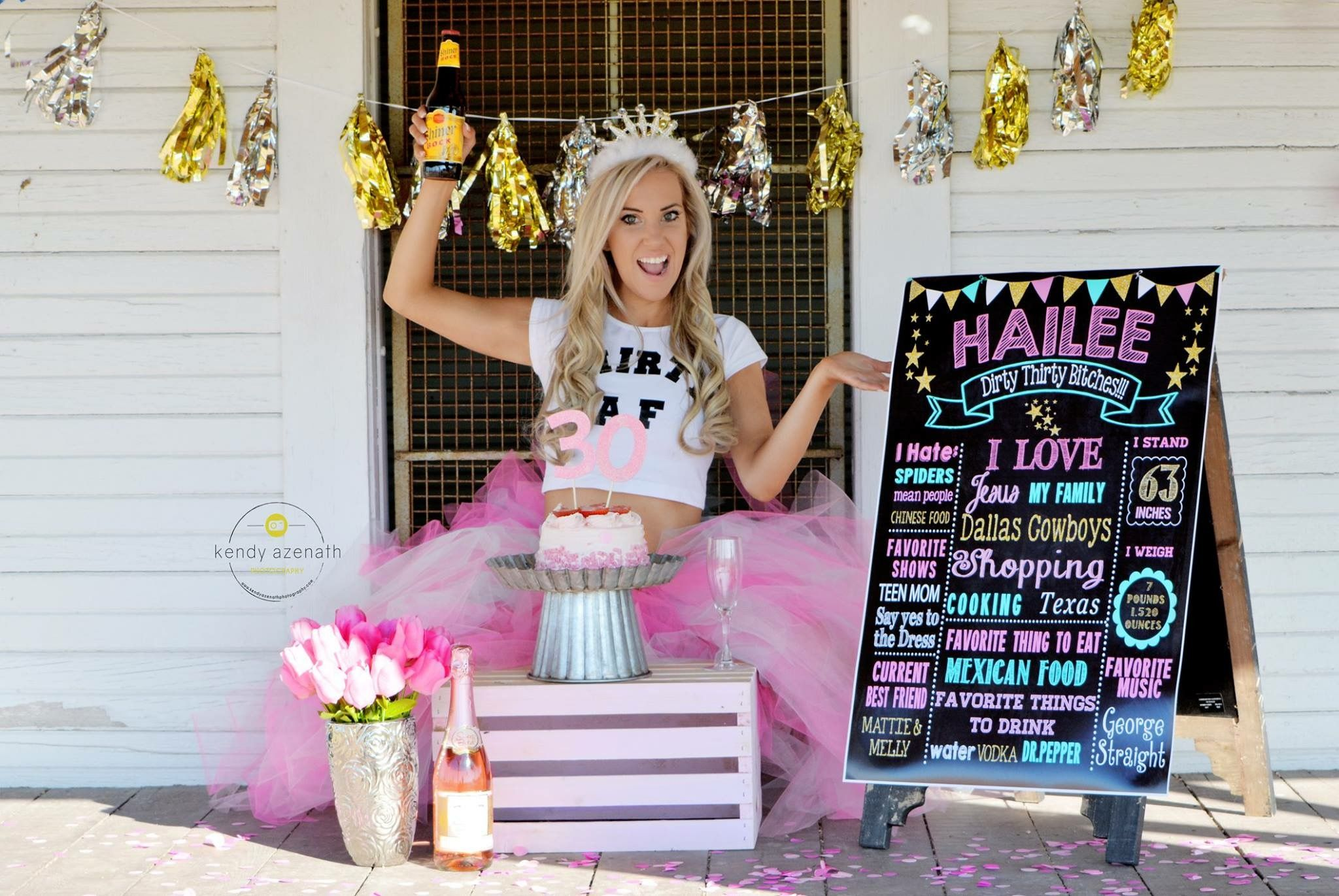 Adult Cake Smash Dirty Thirty Photography Texas Boots And Glitter Pink
