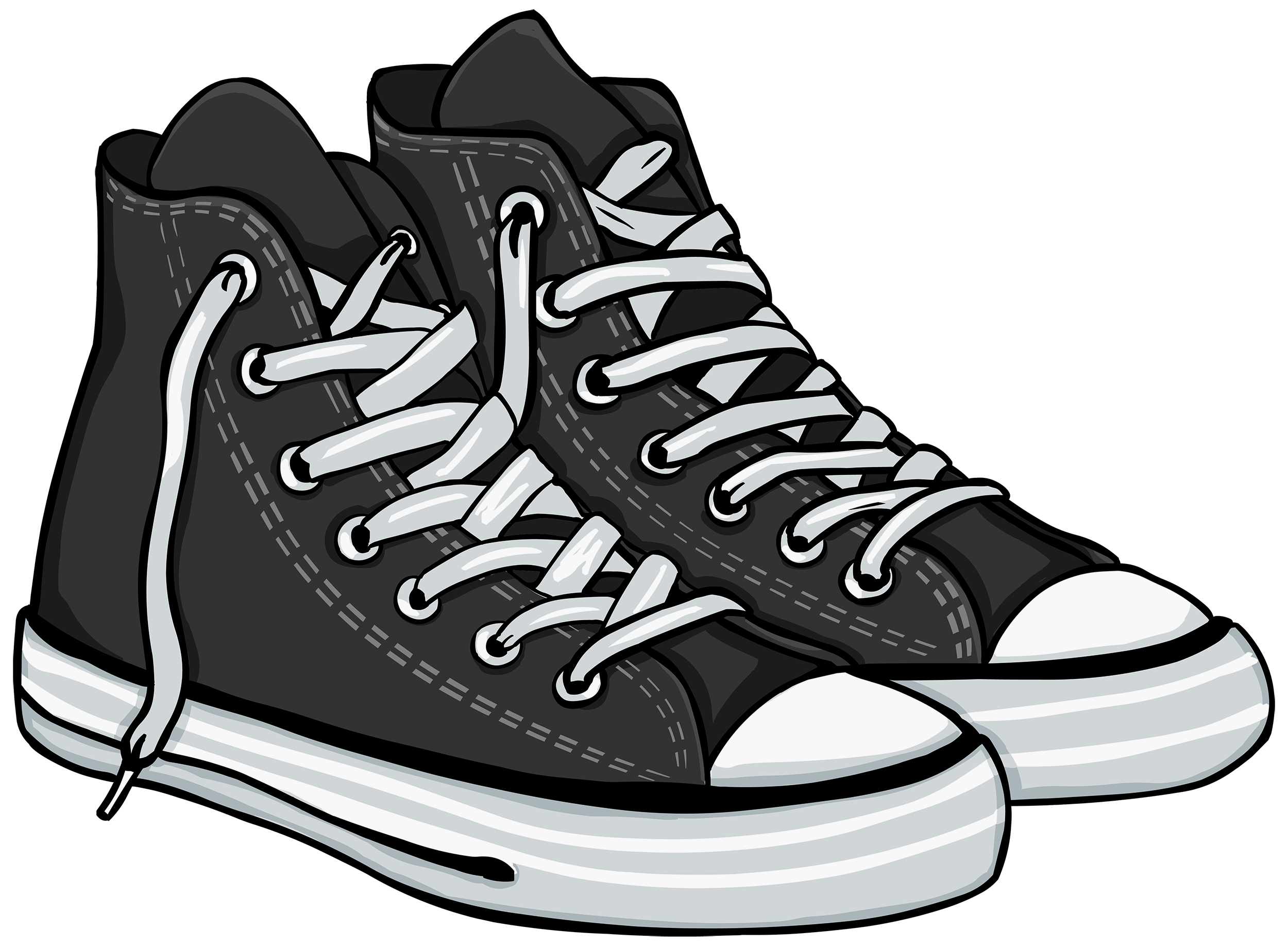 aa5f5ac1c4db27 Tennis shoes clipart black and white collection