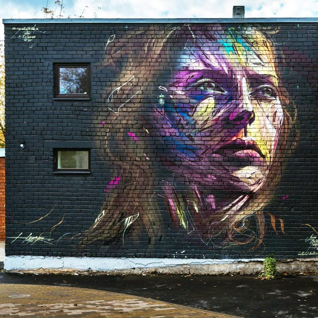 Hopare paints a new portrait in Tallinn, Estonia