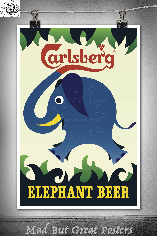 Carlsberg - Elephant Beer - Kjed Nielsen - 1960, poster ...