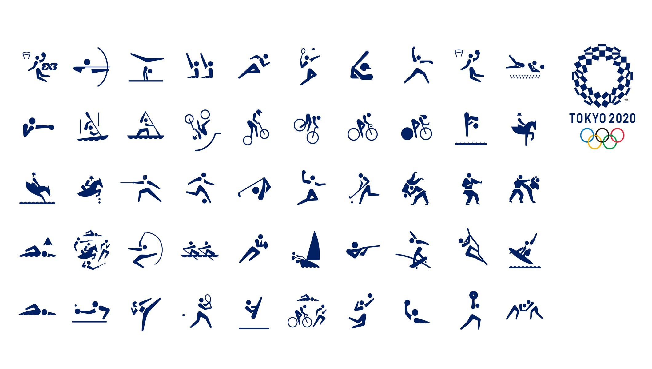 The Tokyo Organising Committee Of The Olympic And Paralympic Games Tokyo 2020 Has Unveiled The Official Sports Pictograms Tokyo Olympics Tokyo 2020 Pictogram