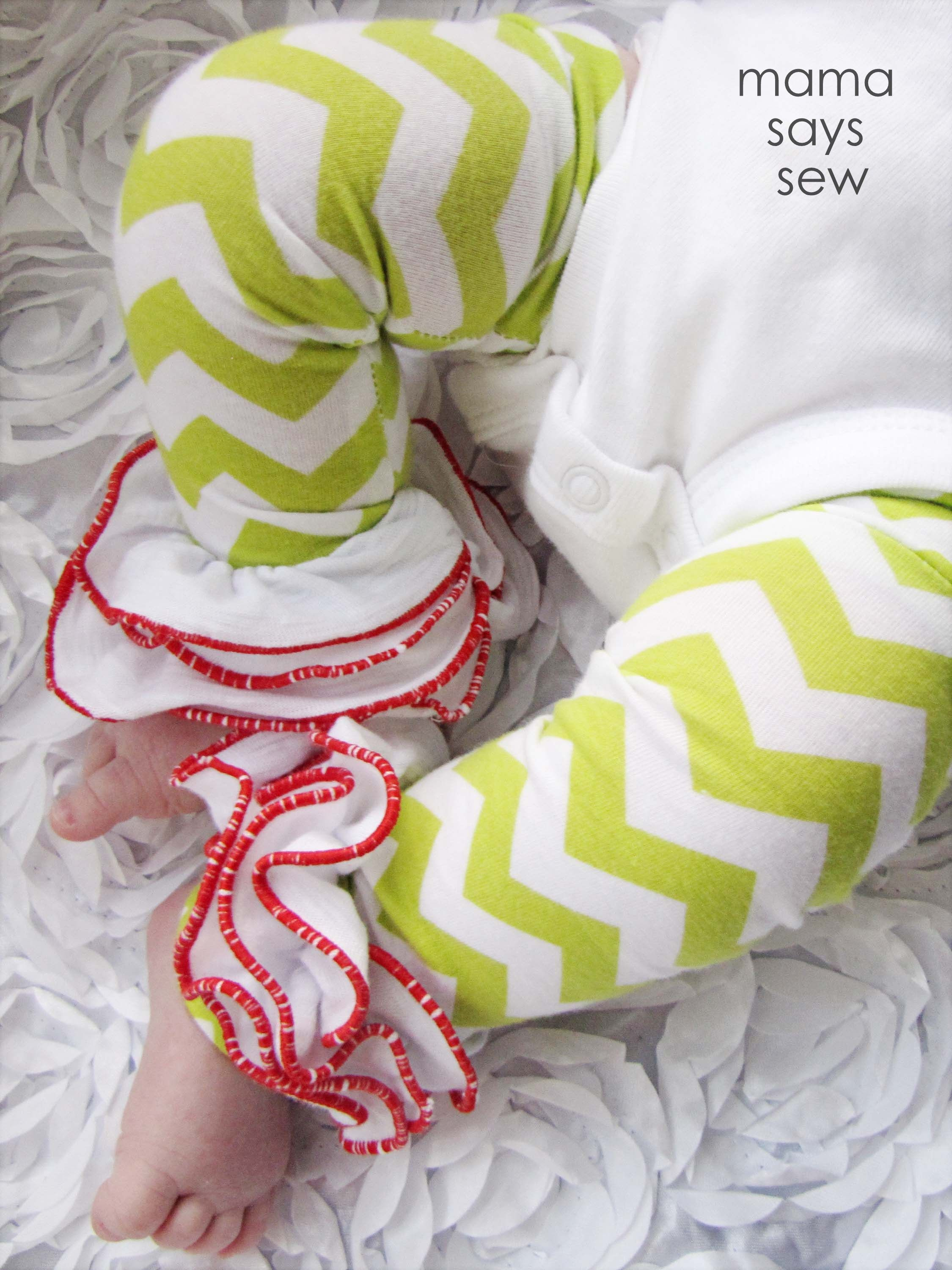baby ruffled leg warmers pattern to make for dots halloween costume