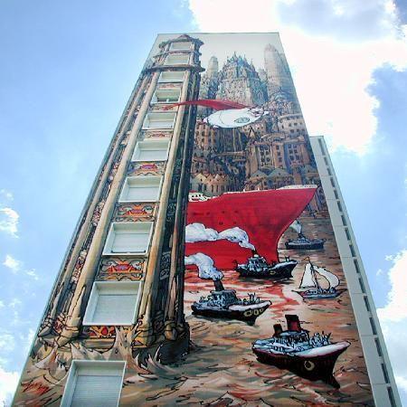 Nicolas de Crecy: mural Angloume