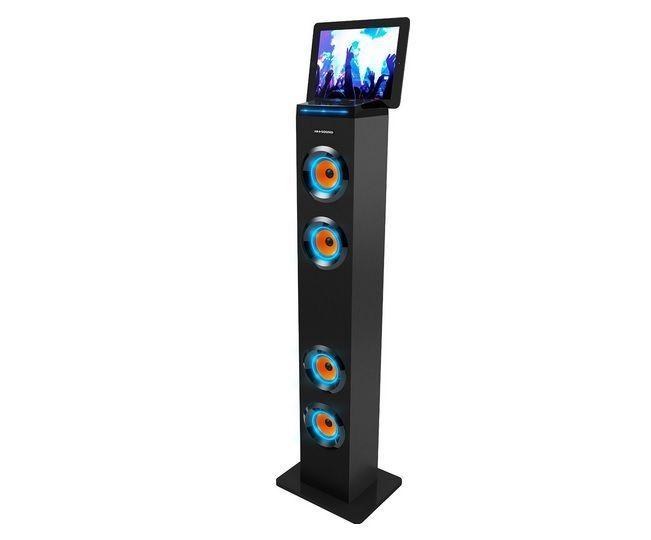 Bluetooth Tall Tower Stereo Speaker System Led Lights W Radio Mp3 Universal Dock Tower Speakers Speaker System Floor Speakers